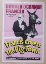Francis Covers the Big Town, English Double Crown Poster, Donald O'Connor, '53